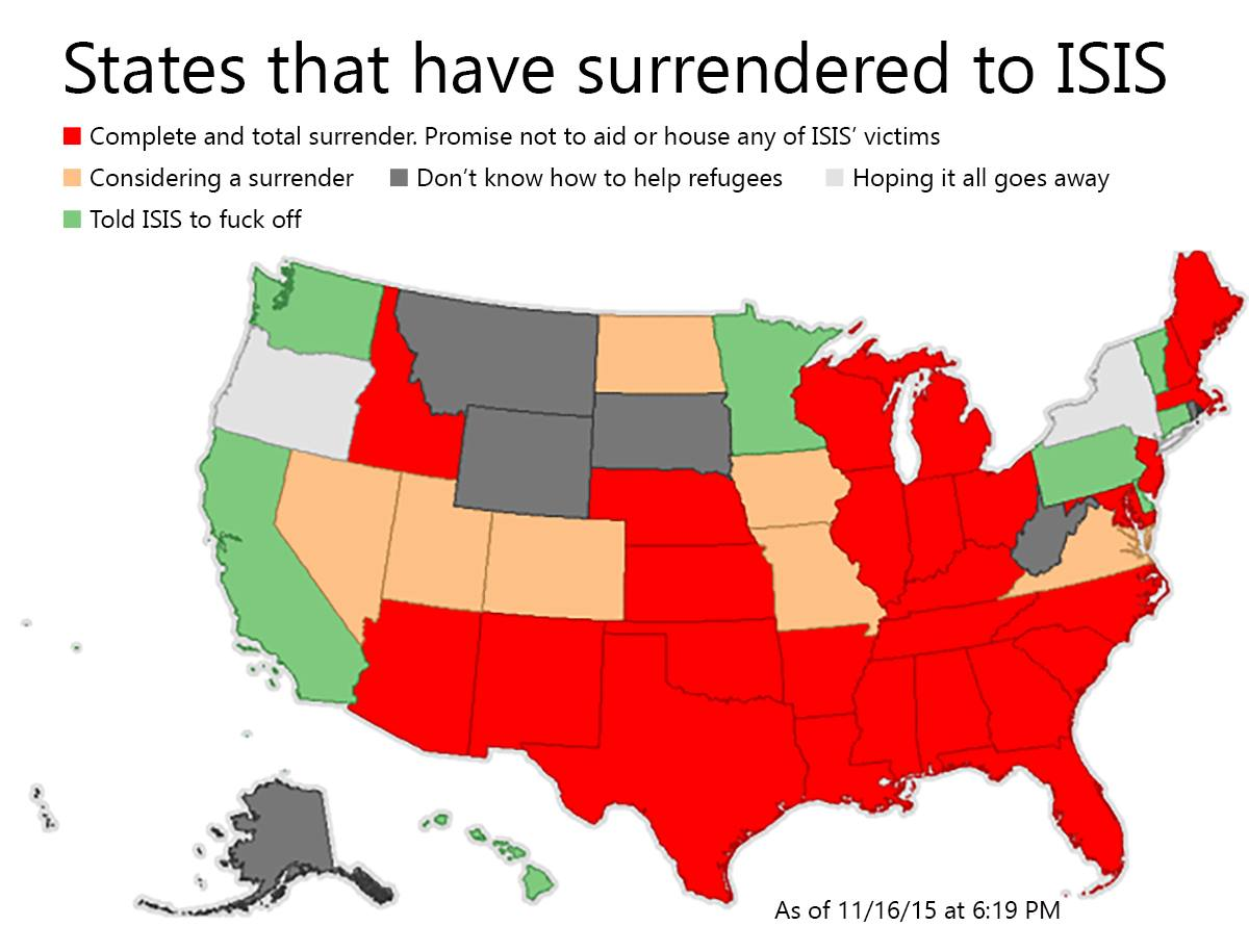 States thst have surrendered to ISIS