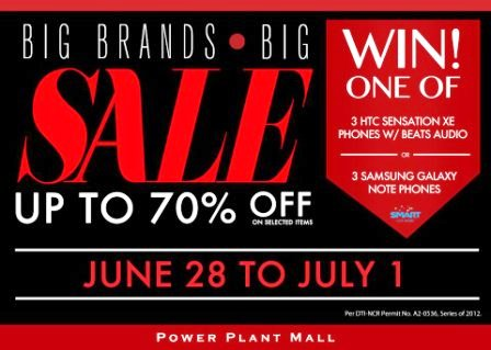 c5abbcd85ac0e8 The Power Plant Mall Mid-year Sale is here! Big Brands Big SALE at Power  Plant Rockwell on June 28 - July 1 2012! Get up to 70% off on awesome  selections!