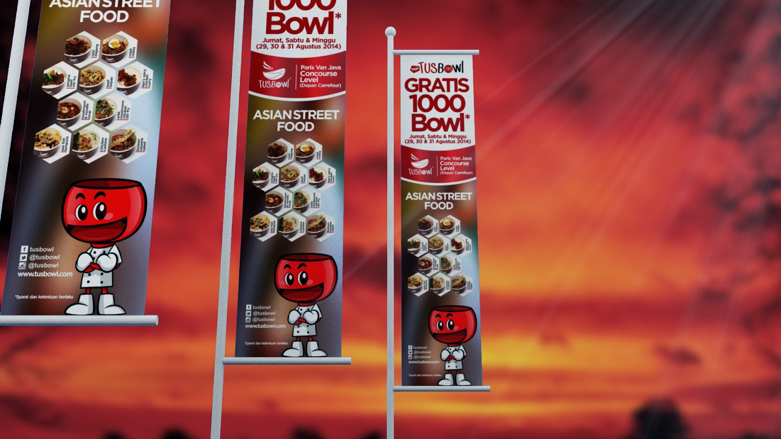 Tusbowl Banner Design