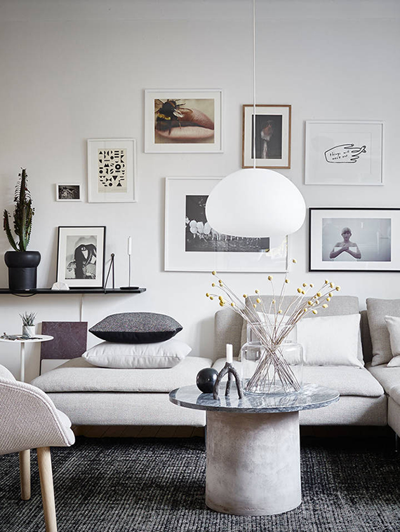 Scandinavian living room. Styling by Joanna Bagge, photo by Jonas Berg via Stadshem
