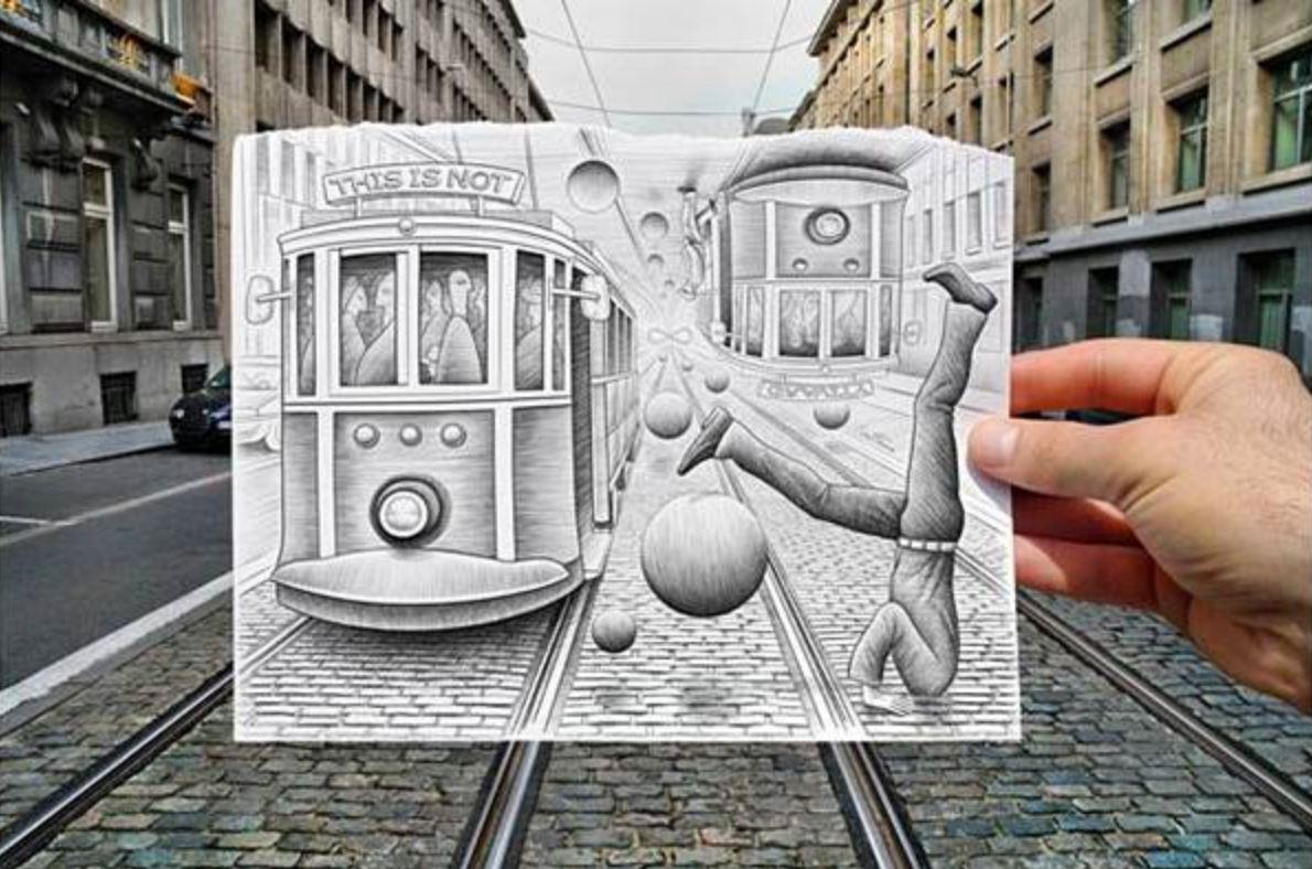 Share Good Stuffs: Pencil Vs Camera Art By Ben Heine - Part 4