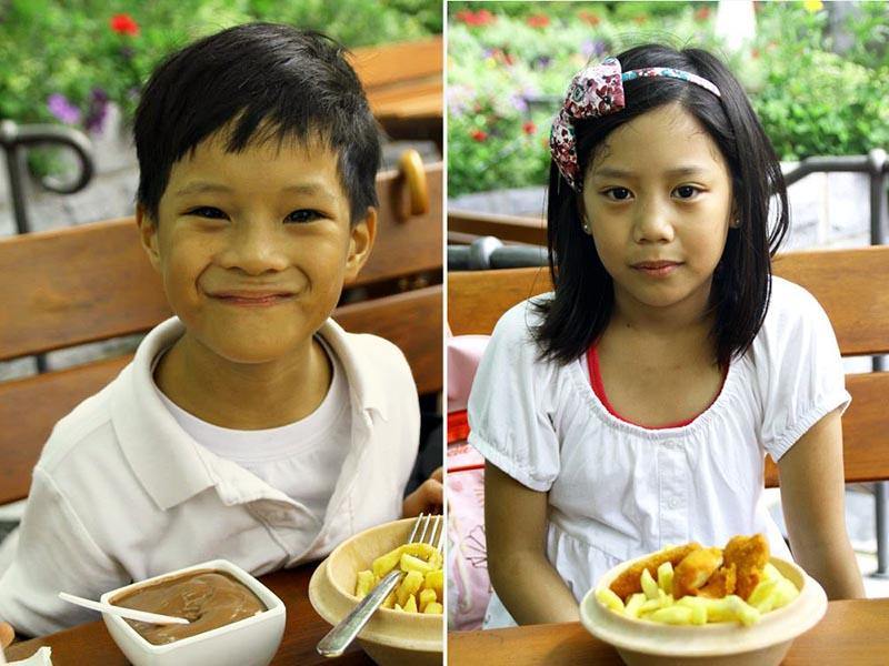 Playmobil Food, kids eating