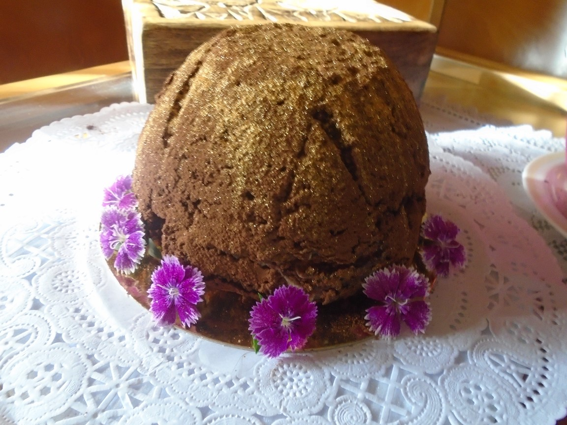 Neapolitan Brownie Bombe
