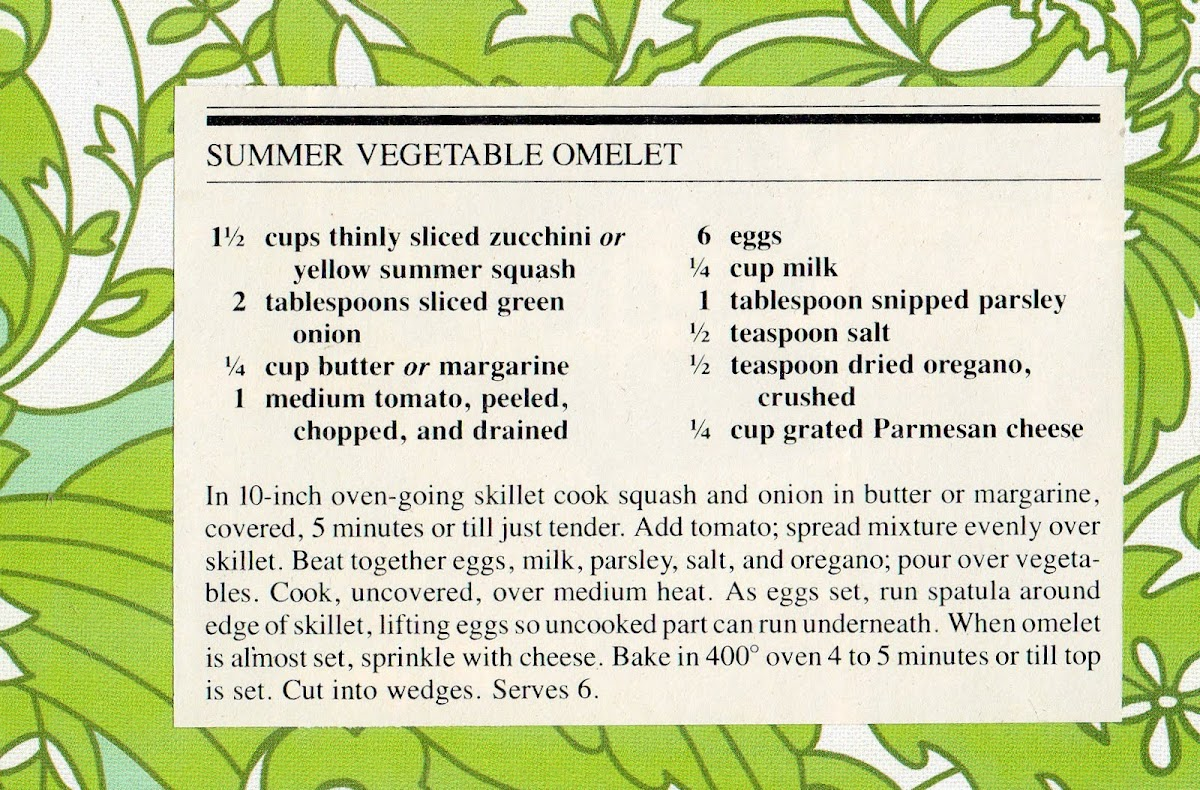 Summer Vegetable Omelet (quick recipe)