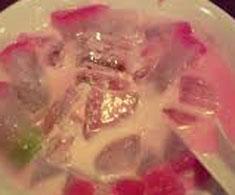 resep minuman indonesia es selendang mayang spesial istimewa khas betawi praktis mudah legit, sedap, enak, nikmat, lezat