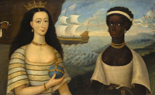 Portrait of the Princess of Zanzibar with her African Attendant by Walter Frier, 1731