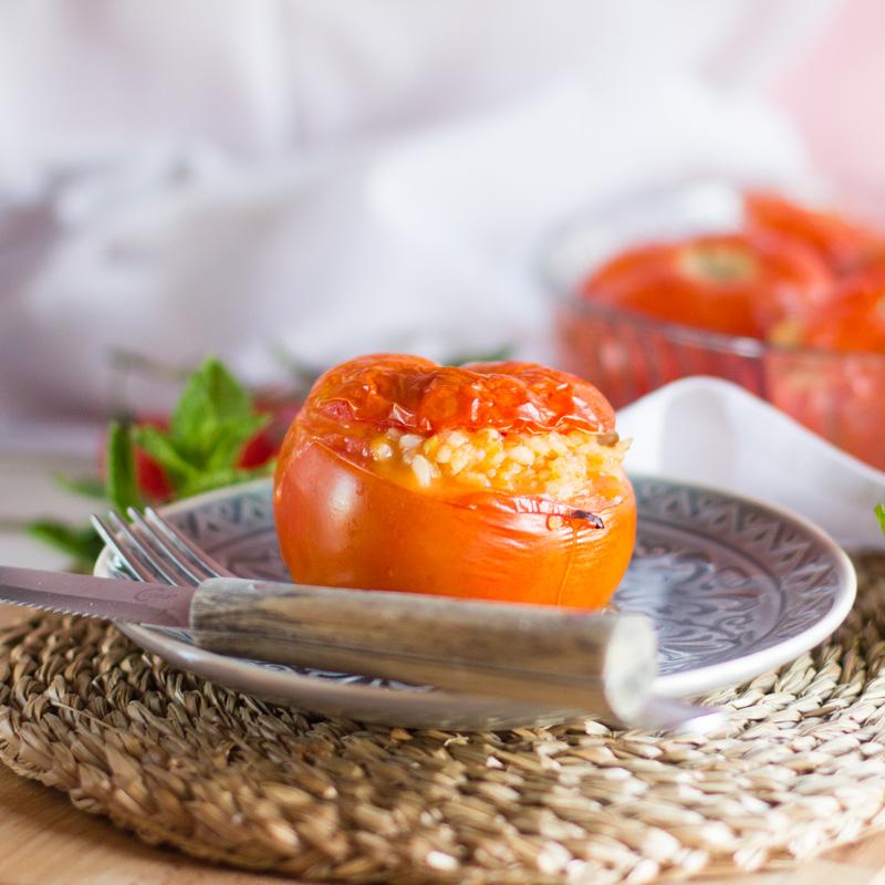 receta de yemista de tomate, receta griega con thermomix
