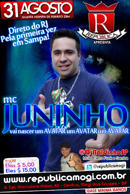 mc juninho avatar - vai nascer um avatar