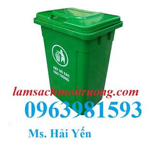 Cung cấp thùng rác công nghiệp, thùng rác 90 lít, thùng rác nhựa giá rẻ