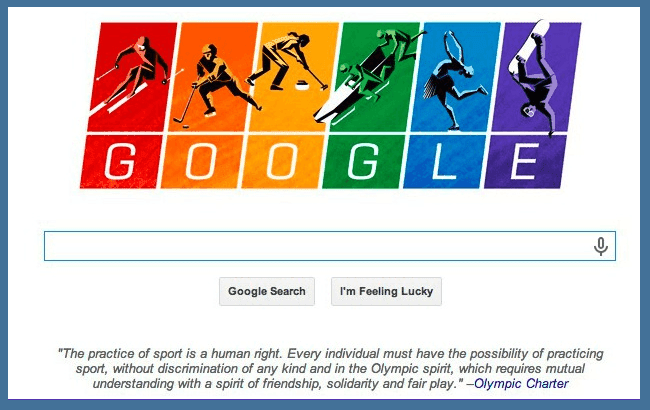 Google Doodle in support of LGBT Olympic Athletes