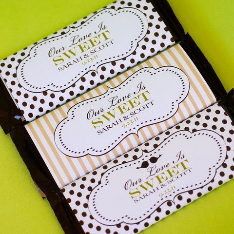 personalized wedding Hershey bars