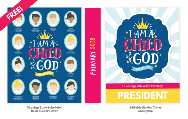I Hope You And Your Primary Enjoy These FREE 2018 Theme Printables