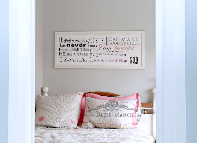 Little Girls Positive Affirmation Sign, Bliss-Ranch.com
