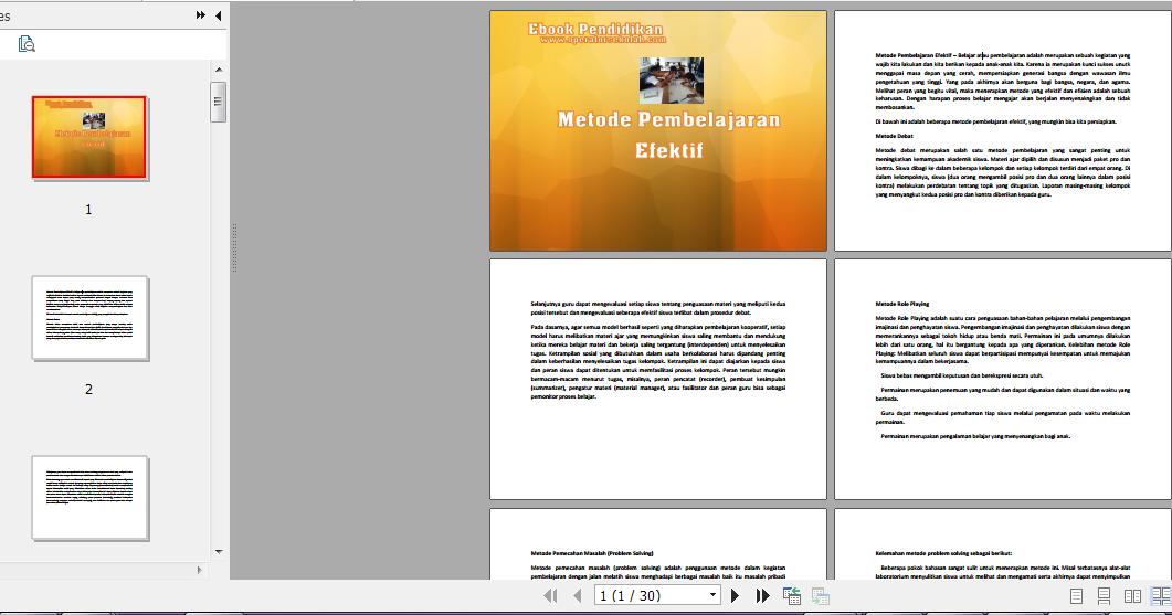 Ebook Pendidikan - Metode Pembelajaran Efektif (30 Halaman)