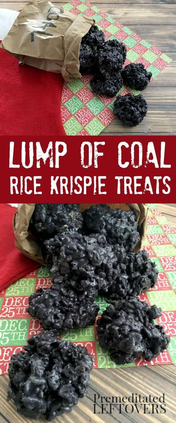 Lump of Coal Rice Krispie Treats Recipe