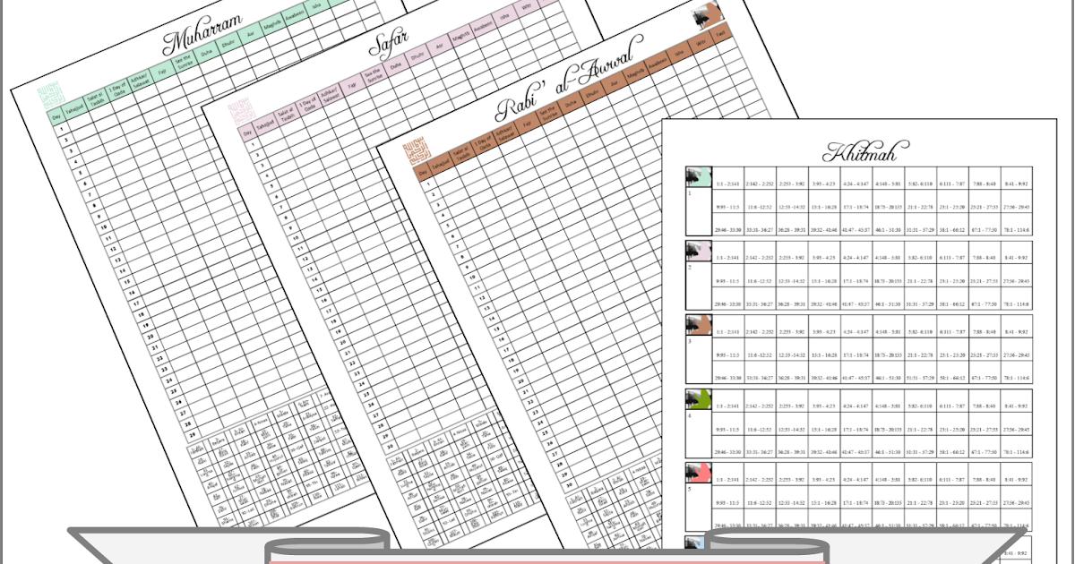 Noor Janan Homeschool: Ibadah & Khitmah Checklist