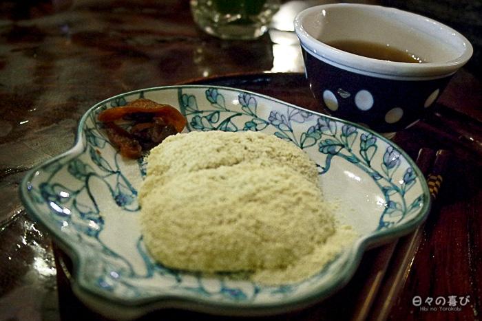 namagashi farine kinako, amazake-chaya, hakone