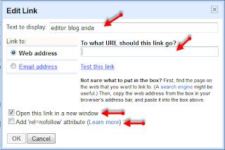 Cara membuat tulisan agar bisa diklik (link)