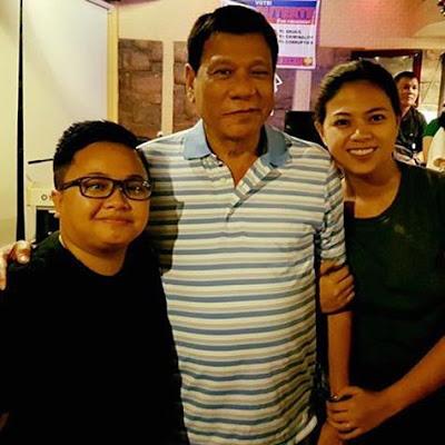Aiza Seguerra and Liza Dino with President Digong Duterte