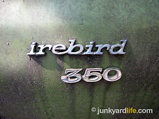 The green 1970 Firebird is a rare sight because of the low production numbers that year.