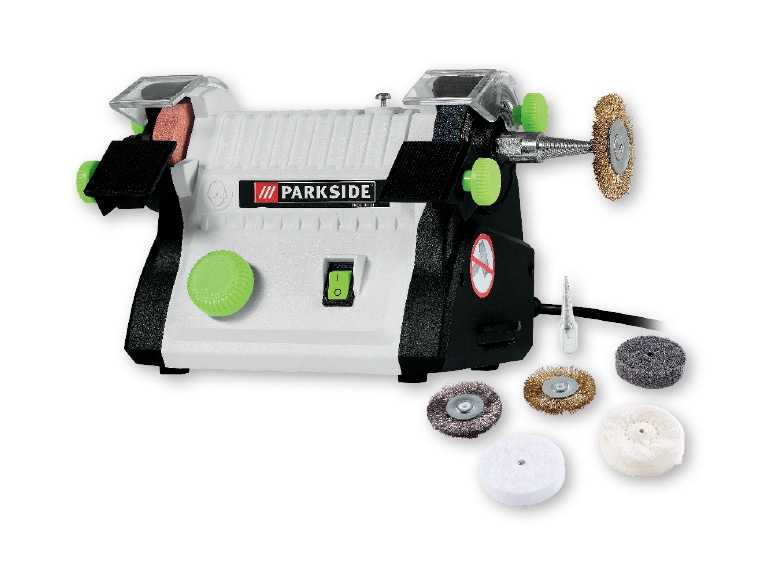 Parkside 100w Mini Modelling Double Bench Grinder Lidl