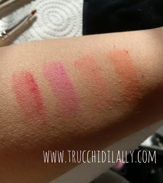 swatches senza primer palette Ultimate Nyx Cosmetics