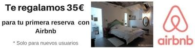 reserva alojamiento. Descuento 35€ Airbnb