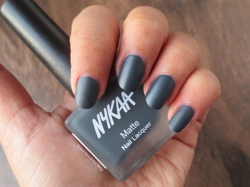 6 Nykaa Matte Nail Lacquer Swatch and Review | Sweet and ...