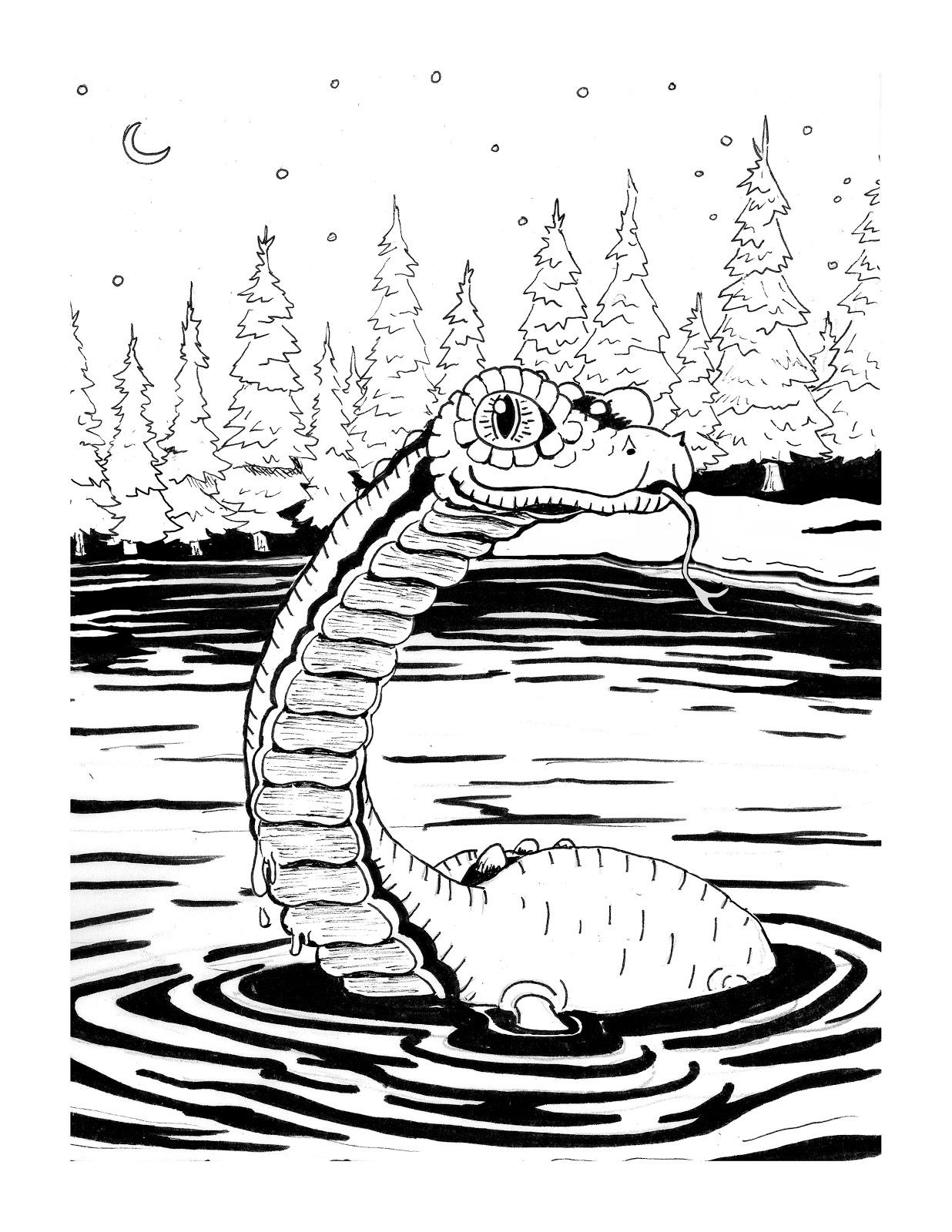 Jake LaGory- illustrator: Cryptozoology Coloring Book