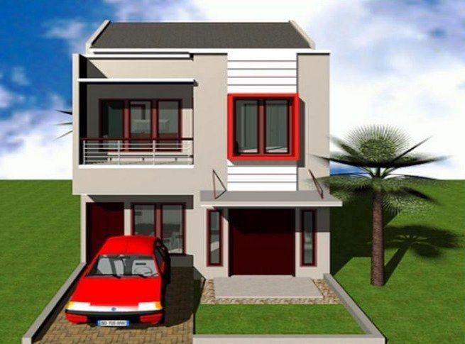 Desain Rumah Mewah 2 Lantai Tampak Depan Minimalis