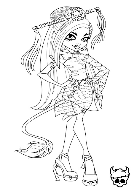 monster high jinafire long coloring page