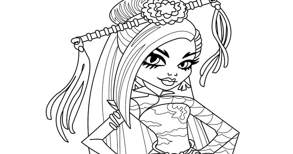 monster high coloring pages jinafire long gloom | Monster High Jinafire Long Coloring Page | Minister Coloring
