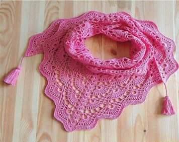 Bufanda Rosa a Crochet