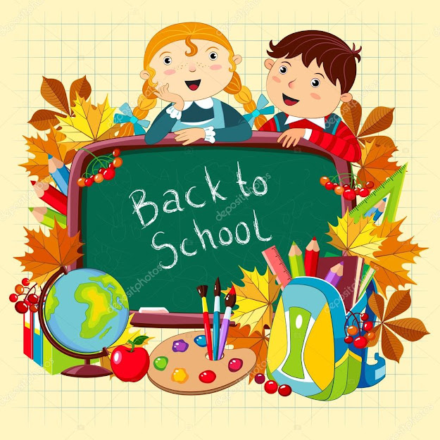 Back To School Vector Illustration With Children And School Supplies   Vector By Akademik