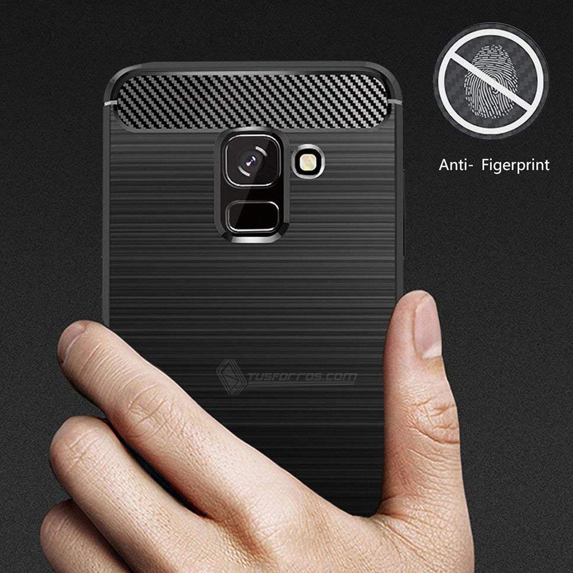 Samsung Galaxy A8 Plus Forro Fibra de Carbono Anti-Shock