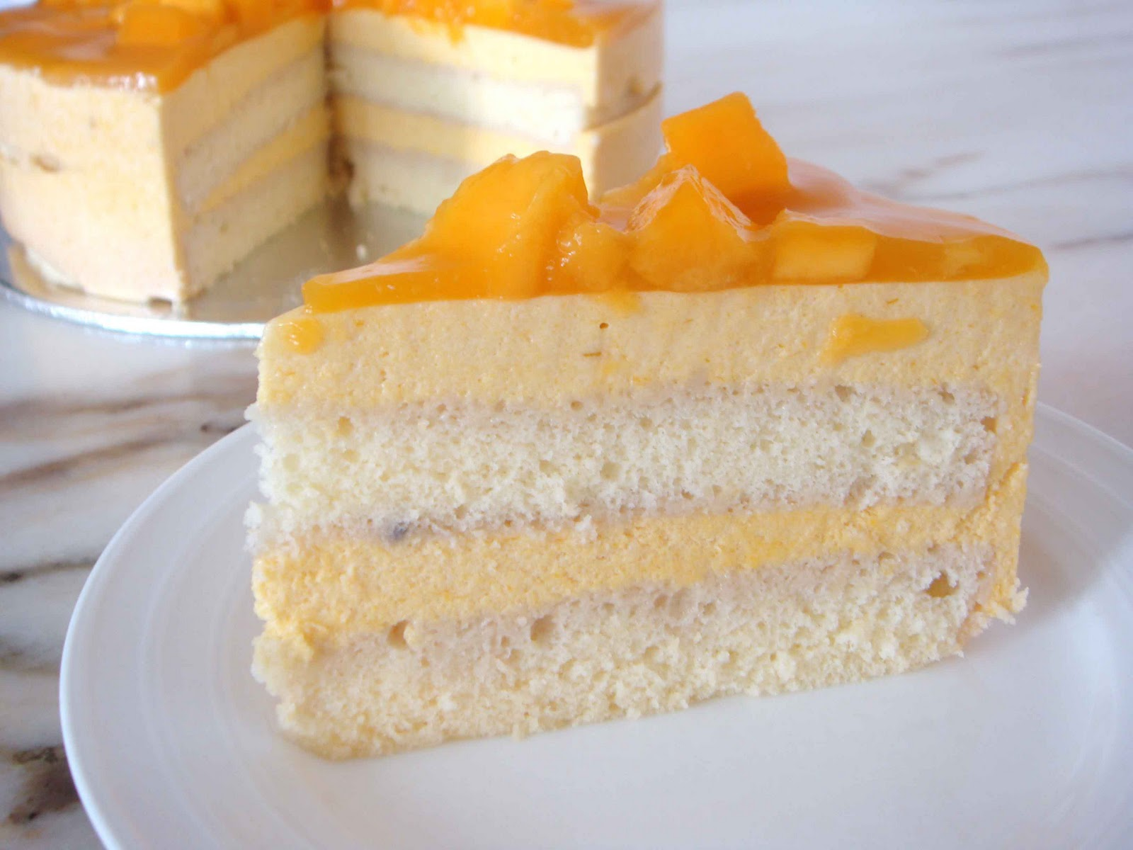 Mango Mousse Cake Easy Recipe