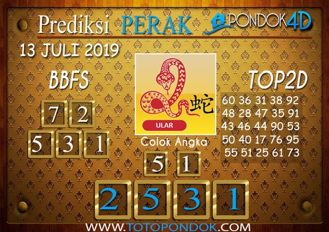 Prediksi Togel PERAK PONDOK4D 13 JULI 2019