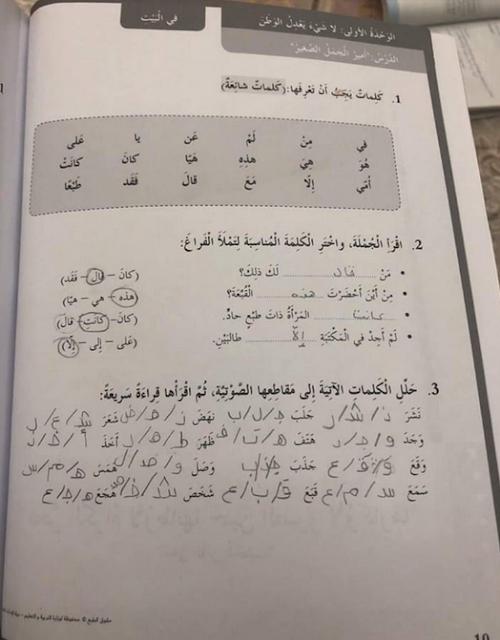 حلول الوحدة الاولي من كتاب النشاط في اللغة العربية للصف السادس