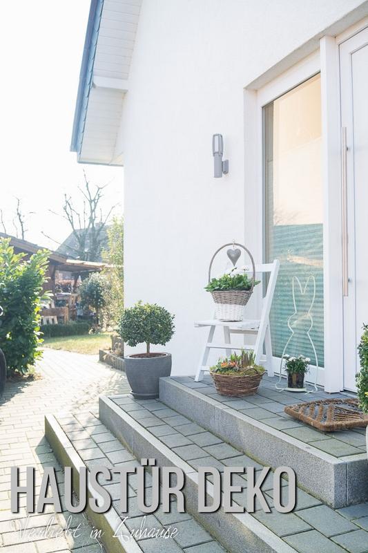 Verliebt in zuhause haust r deko ideen zu ostern f r den eingangsbereich - Dekoration hauseingang ...