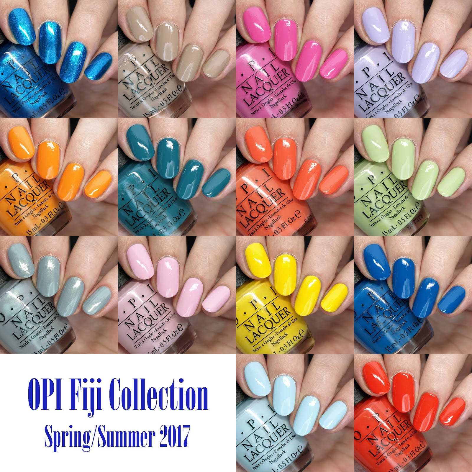 Nail Polish Colors Spring 2018 Opi: Nail Polish Society: OPI Spring/Summer 2017 Fiji Collection