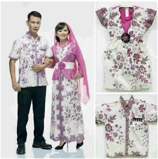 Seragam keluarga modern muslim kombinasi batik cantik