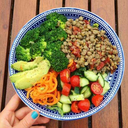 Beginners Guide to Vegetarian Plant Base Diet - Recipe Idea Nutritions Vitimans Colourful Salad Bowl Whole Health Journey