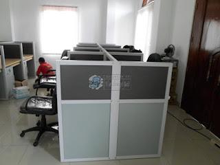 Meja Partisi Kantor Knockdown Meja Sekat Bongkar Pasang Custom Furniture Semarang