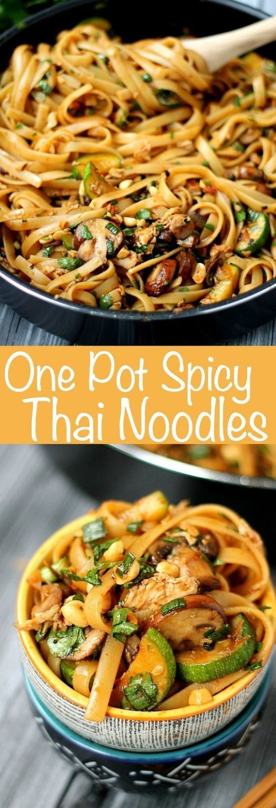 One Pot Spicy Thai Noodles #thainoodles #noodle #noodlerecipes #thailandfood #vegetarianrecipes