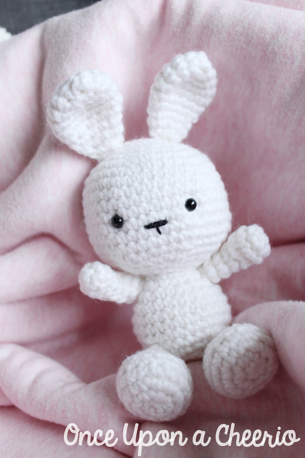Classic Amigurumi Bunny Crochet Pattern - Once Upon a Cheerio