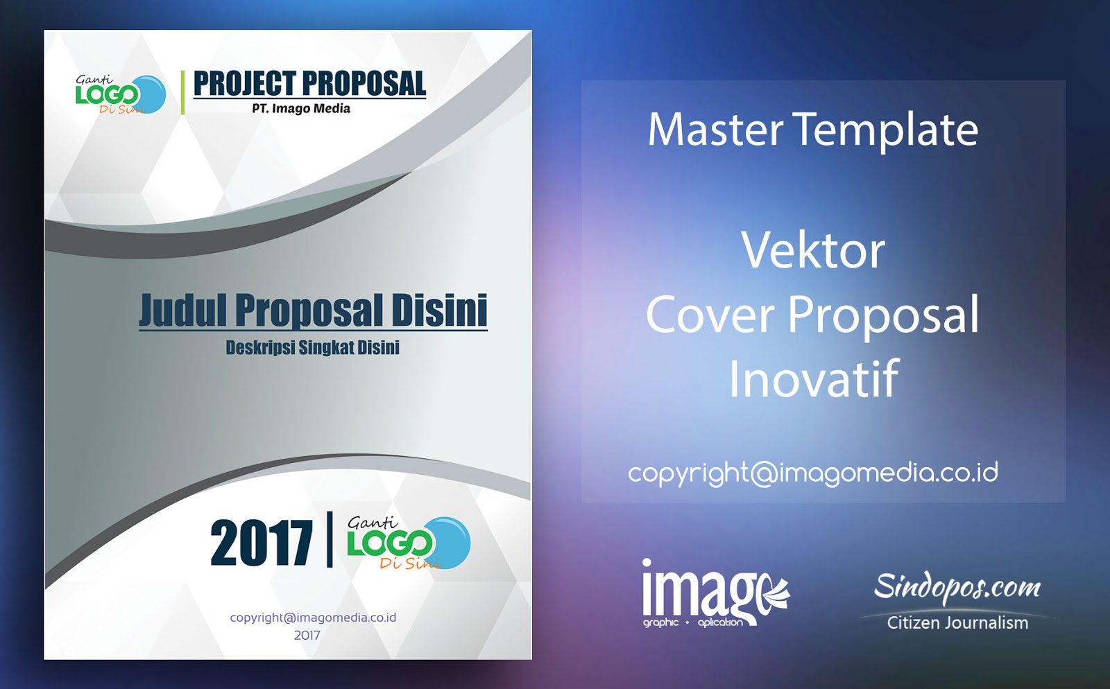 Download Template Desain Cover Proposal Keren | Imago Media