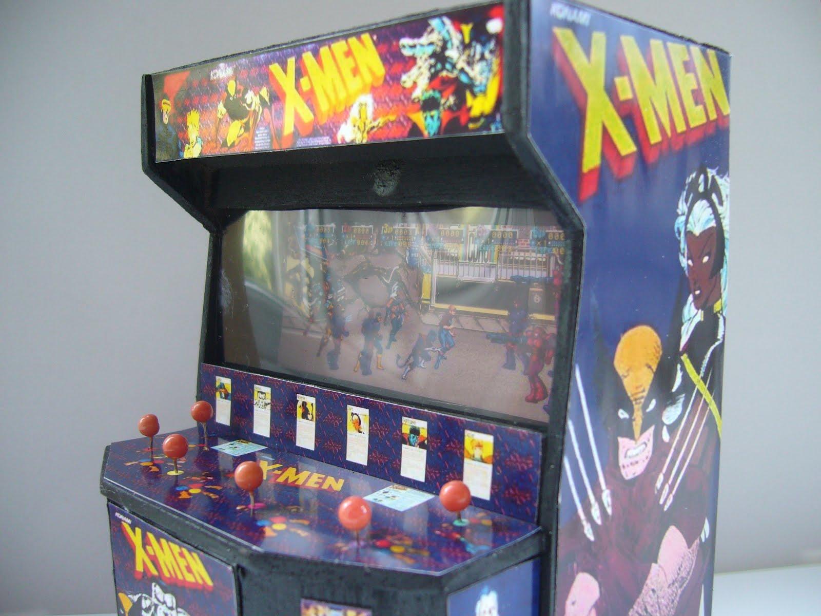 Retro Heart X Men Six Player Arcade Cabinet Model