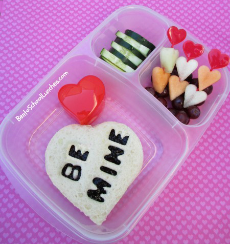 be mine, valentines lunch, bento school lunches