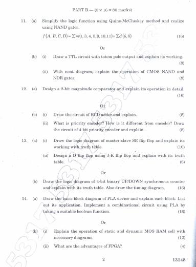 147302 Digital Electronics Nov Dec 2011 Question Paper