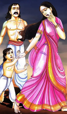 Harishchandra sold his wife and son.